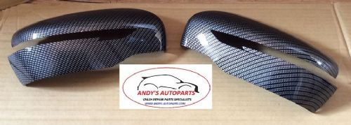 NISSAN X-TRAIL 2014 ONWARDS PAIR OF WING MIRROR COVERS CARBON FIBRE HYDRODIPPED